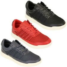Mens Trainers Crosshatch Jogging Shoes Lace Up Walking Running Sports Gym Mesh