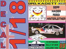 DECAL 1/18 OPEL KADETT GSI SEPP HAIDER R. NEW ZEALAND 1988 (05)