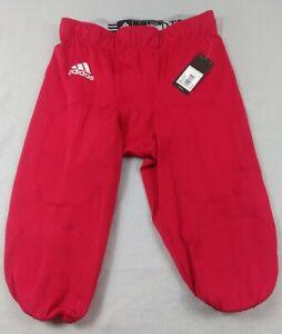 Adidas Mens Football Pants Red Size Meduim 194BA NWT $50 MSRP