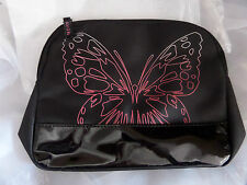 """New Avon Cosmetic Bag Butterfly Cosmetic Bag Pink / Purple Butterfly 10"""" x 7.5"""""""