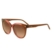 Calvin Klein - Pink Rose & Brown Cat Eye Style Sunglasses with Case