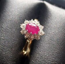 18 Carat Oval Yellow Gold SI1 Fine Diamond Rings