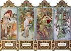 "Four Seasons Art Nouveau Deco Print Alphonse Mucha 16x11"" Poster NEW Printemps"