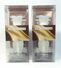 2 Bath Body Works WARM VANILLA SUGAR Wallflower / Fragrance Diffuser Set