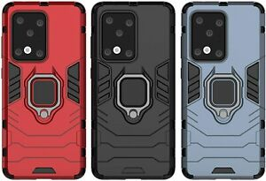 Cover Case Hybrid Iron Man Samsung Galaxy S20 Ultra Armor Magnet+Support