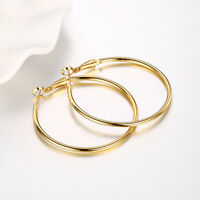 18K Yellow Gold Plated 1.2MM Endless Tube Hoop Earrings