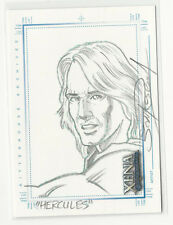 Losse niet-sportkaarten Xena Chris Bolson Sketchafex of Joxer sketch card Ted Raimi hand drawn Art Image