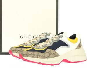 NEW GUCCI RHYTON BEIGE GG GUCCISSIMA SNEAKERS SHOES 9G/US 9.5