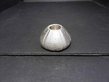 "Metal Art Candleholder Sea Anemone Shape Silver Color 2 3/4"" D"