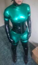 Catsuit Nero Verde ** LEGGERE DESCRIZIONE ** Costume Lattice look PVC