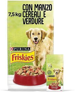 ✅ Cibo Alimento Secco Completo Cani Croccantini Manzo Cereali Verdure 7,5 kg