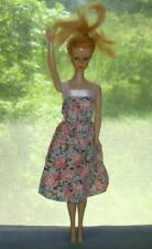 vtg BARBIE doll with summer dress blonde ball joint neck no shoes 'Hi there!'