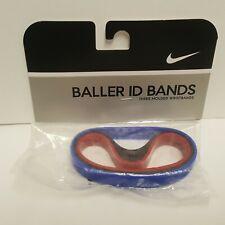 New Nike Vtg 2005 Baller ID Bands Bracelets Navy Blue Black Red 3 Pack Player