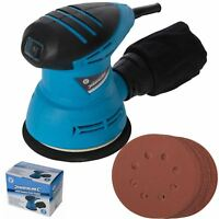 Silverline Electric Random Orbital Palm Sander With 12 Sanding Sheets 125mm 240w