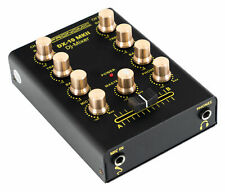 DJ PA Battle Mixer 2-Kanal Mini Controller Mischpult Disco Mischer EQ schwarz