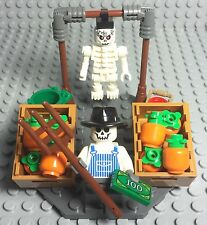 Lego New MOC Halloween Street Market Pumpkin Seller W/ Mini Figures Mini Display