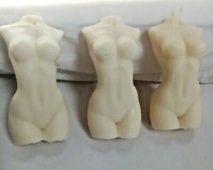 3 x Female Torso Body Candles - Large - New