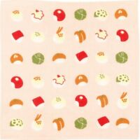HAMAMONYO Japanese Towel 'Roly-Poly Cute Sushi'(25cm×25cm Soft Touch Hand Towel)