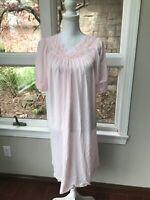Small Shadow Line Vintage nightgown pink Shadowline neglige nightie Lingerie Sm
