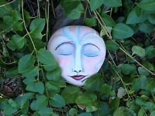 hand painted rock stone art garden MEDITATION ZEN PEACE face by Gail Grant