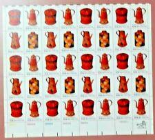 Scott #1775 $0.15 Folk Art Usa - Pottery Mint Sheet ( Face Value - $6.00 )