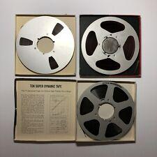 Vintage Reel To Reel Lot Reevox TDK Scotch Metal Plates
