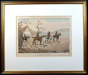 Antique 1841 Fox Hunting Engraving/Print 'Unkenneling' Henry Alkin