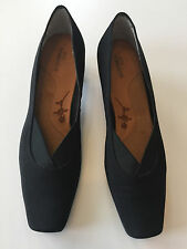 Ros Hommerson Women's 8.5N Black Leather Shoes Kitten Heel Pumps Square Toe