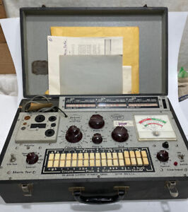 vintage Jackson dynamic output tube tester model 658 1960's paperwork