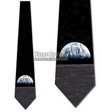Earth Rising Tie Men's Space Moon Necktie Neck Ties Brand New