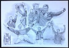 Manchester United 1998-1999 Treble Season Print Alex Ferguson Solskjaer Beckham