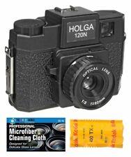Holga 120N Medium Format Film Camera (Black) with Kodak Tx120 Film Bundle