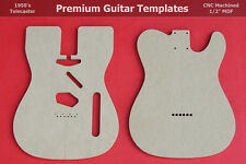 """Telecaster Body Router Template Set for Bound Top Body CNC TELE 1/2"""" MDF  0.5"""""""