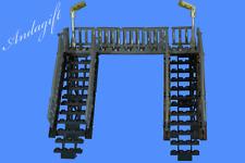 LEGO modern footbridge for train station or road  railway bridge  train set