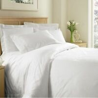 FULL SIZE WHITE SOLID SHEET SET 1000 THREAD COUNT EGYPTIAN COTTON