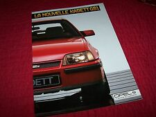 Catalogue / Brochure OPEL Kadett GSI 1984 / 1985 //