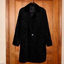 Tally-Ho Woman Plus Faux Fur Coat Black 1X