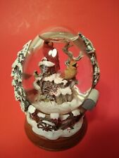 Franklin Mint Cardinals In Winter Snow Globe Collector Egg Hand painted Le Iob