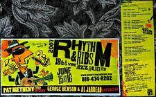 KANSAS CITY JAZZ & BLUES 5¼x11 POSTER: RHYTHM & RIBS 18th & VINE Metheny Benson