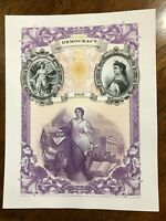 BEP 2015 Democracy Ideals in Allegory Souvenir Card B317 - Mint with Info Card