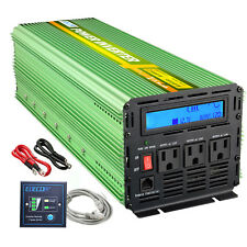 EDECOA Power Inverter 2500W 5000 Watt Pure Sine Wave 12V dc to 110V 120V ac LCD