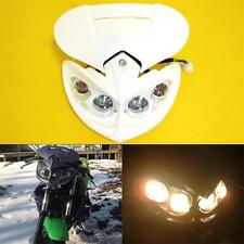 New Universal Motorcycle Racing Streetfighter White Headlight Head Lamp Fairing
