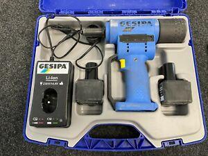GESIPA AccuBird 14,4 V mit 2 Akkus, im Kunststoffkoffer