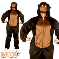 Deluxe Gorilla Adulti Costume Animale Scimmia Monkey Libro Giorno Costume Da Uomo Donna