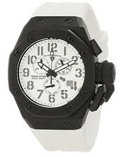 Swiss Legend 10541-BB-02-WHT Men Trimix Diver Chronograph Watch Black New in Box