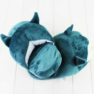 28cm Snorlax Stuffed Slippers Anime Indoor Plush Winter Warm Shoes for Adults