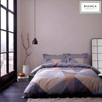 Bianca JAZZ Geometric Striped Abstract 100% Cotton Soft Duvet/Quilt Cover Set