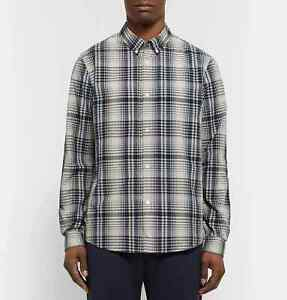 A.P.C. Men's Button-down Collar Checked Cotton poplin Shirt size M to L apc