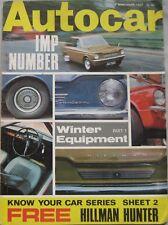 Autocar magazine 9 November 1967 featuring Ford Fairmont road test