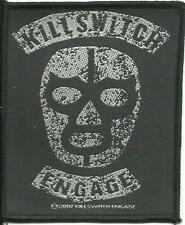 KILLSWITCH ENGAGE luche libre 2007 WOVEN SEW ON PATCH official - no longer made